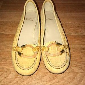 Stuart Weitzman croc slip on loafer